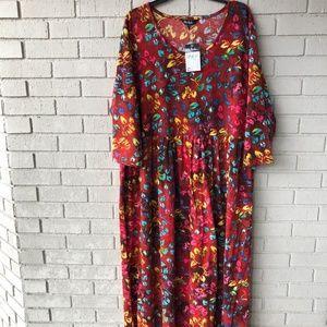 NWT Ulla Popken Cotton Maxi Dress Plus 20/22